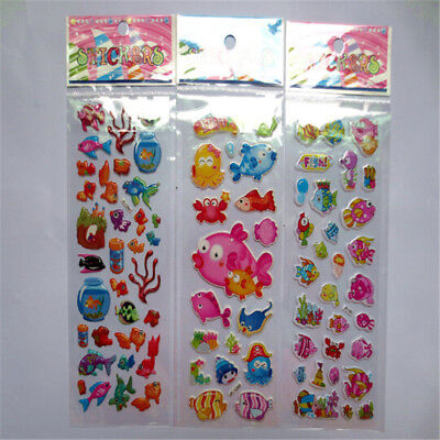 5pcs/Lot Bubble Stickers 3D Cartoon KIds Classic Toys Sticker School Reward TSCA