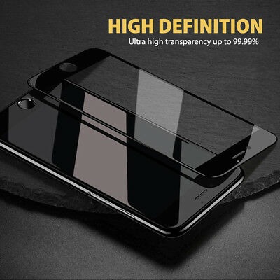 For Apple iPhone 7 8Plus 9H Full Cover Curved Tempered Glass Screen Protector BT