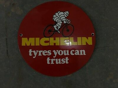 Porcelain Michelin Tyres enamel Sign 12 inches