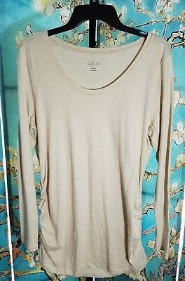 NWT  AGlow Maternity Long Sleeve Top, Size X Large, Retail $24.00