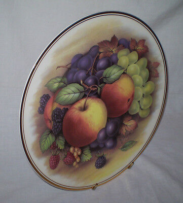 Doug Hague Fenton Bone China  England Harvest Fruit Fruit Plate