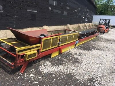 Continental Trough Type Belt Conveyor 30' Material handling Rubber Tire scrap