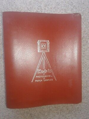 Kodak Salesman Photo Catalog 1961 Photo Paper Samples