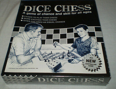 Rare Sealed Vintage 1988 Brown's Games & Toys  Perth, Australian Dice Chess Game