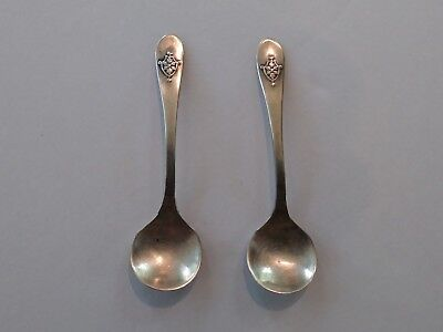Pair of Matched Sterling Silver Salt Spoons