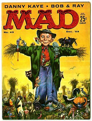 Mad #43 VG+ 4.5  Kelly Freas cover  EC  1958  No Reserve
