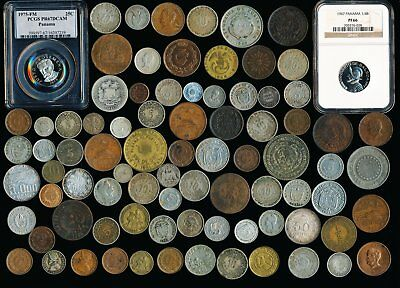 84 Old Latin & South America Coins  (Silver & Copper) See Images >  No Reserve