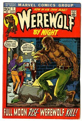 Werewolf by Night #1 FN 6.0 ow/white pages  Marvel  1972  No Reserve