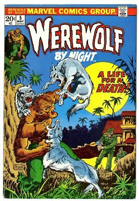 Werewolf by Night #5 FN/VF 7.0 ow/white pages  Marvel  1973  No Reserve
