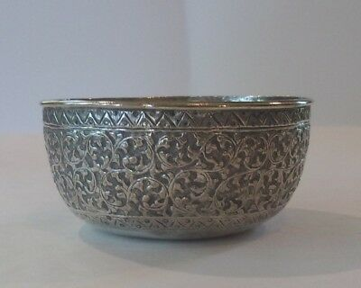 Hand Wrought Persian .800 Silver Bowl
