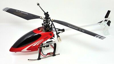 rc hélicoptère gyro GT Rouge Argent 4 canaux 475 mm modelhubschrauber