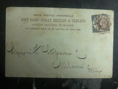1883 Liverpool England PS Postcard Cover Products List
