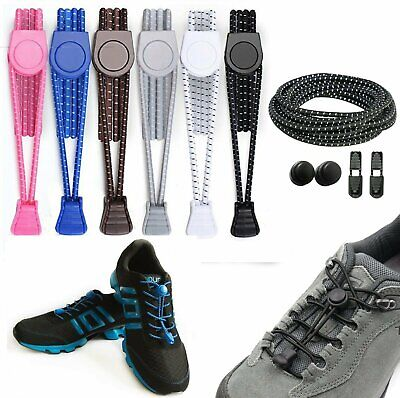 Elastic No-Tie Shoelaces Black, Running Sport Triathlon Shoelace Shoe