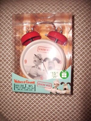 Wallace And Gromit Twin Bell Alarm Clock - Bnwt