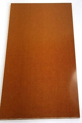 "1 Pc 1/8"" Brown Canvas Micarta Knife Handle Material 6"" x 12"" x .125"" - Sheet"