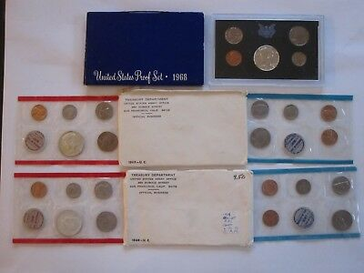 ~1968 Proof Set & 1968-1969 Uncirculated Sets~ Great Birthday Gifts~
