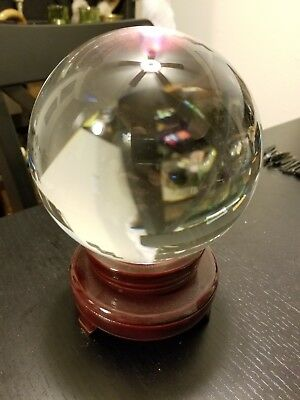 Clear Crystal Ball with Wooden Stand, 150mm (6 in.)