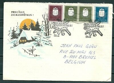 Latvia 1991 Cover Christmas Issue, Nice Christmas Postmarks -Cag 301017
