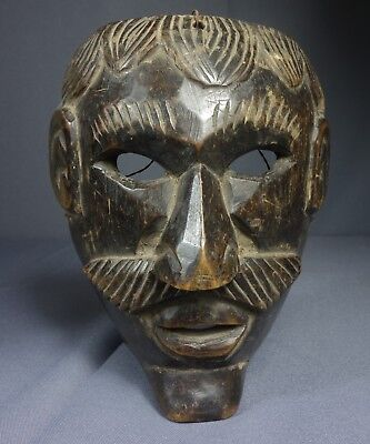 Hand carved Vintage Ceremonial Xin Dance Mask from Nahuala, Guatemala