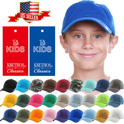 Junior Youth Kid Size Cotton Dad Hat Adjustable Baseball Cap