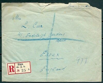 Latvia 1938 Registered Cover Posted To U.k. Nice Stamps -Cag 260516