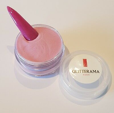 Pink coloured acrylic powder pre-mixed 4g pot colour glitterama pastel