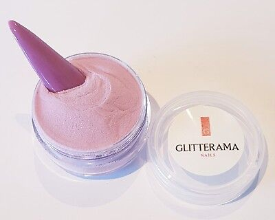 Gypsy rose pink plum coloured acrylic powder pre-mixed 4g pot colour glitterama
