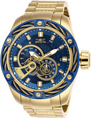 Invicta Men's Bolt Automatic Chronograph Gold Plated Stainless Steel Watch 267