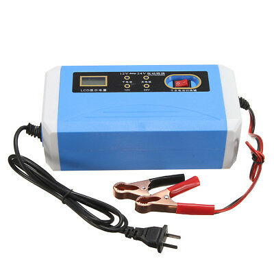 12V/24V 10A/6A 160W Auto 3 Stage Car Motorcycle Smart Battery Charger