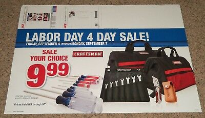 2015 LG ACE Hardware Store Encap Display Sales Sign 25x34 Craftsman Tools Wrench