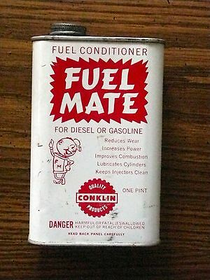 Vintage Fuel Mate Can Fuel Conditioner Tin For Diesel Or Gasoline Conklin Co Inc