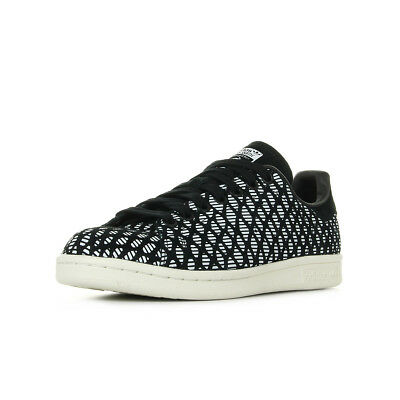 the latest 0b958 bee9f Chaussures Baskets adidas femme Stan Smith W taille Noir Noire Cuir Lacets