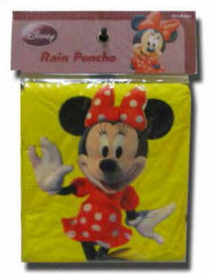 Disney Minnie Mouse Yellow Poncho Adult