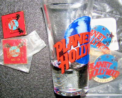 Planet Hollywood: Pin Collection:beverly Hills (2), Chicago (2), Chicago Shot(1)
