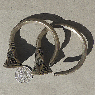 a pair of old silver ornate earrings tuareg mali niger #63