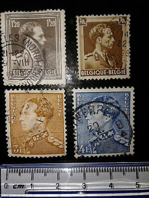 King Leopold 1936-1950 old collectable stamps Belgium multicoloured some varient