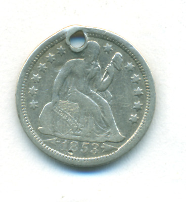 1853 With Arrows Seated Liberty Dime