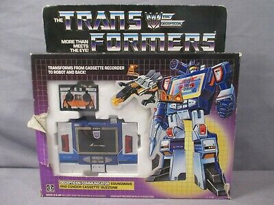 Transformers G1 Reissue Deception Soundwave Action Figures Boxed No Buzzsaw