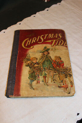 Antique Vintage Victorian Childrens Book-At Christmas Tide-1903-Conkey-RARE!
