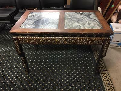 Antique Asian marble top table Lot 242