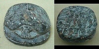 RARE ANCIENT EGYPTIAN ANTIQUE SCARAB Stone 1345-1211 BC