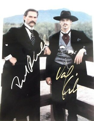 """TOMBSTONE"" DUAL SIGNED BY KURT RUSSELL & VAL KILMER  w/COA"