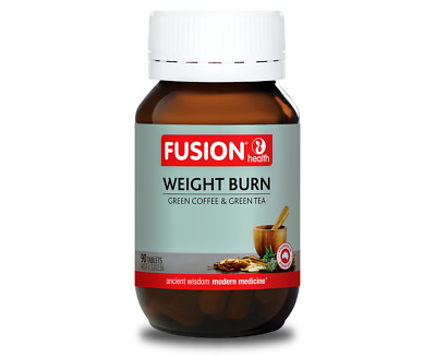 Fusion Health Weight Burn 90 Tabs / Green Coffee Extract With Thermolean