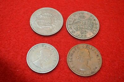 British half crowns, '57 2 Shilling, '67 Penny, FREE Shipping!