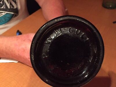 Old  Cully and Co. Dark Green Bottle