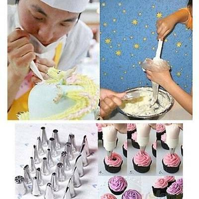 100PCS Disposable Bags Icing Nozzle Fondant Cake Decorating Pastry Tool