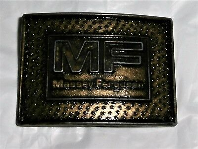 Vintage 1970s Massey Ferguson Belt Buckle Tractor Agriculture Made in Canada