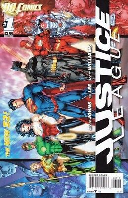 Justice League #1 2Nd Ptg Lee Johns Scarce Dc New 52 Near Mint