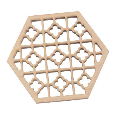 Durable Candlenut Wood Hex Sound Window Embossment for Erhu DIY Accessory