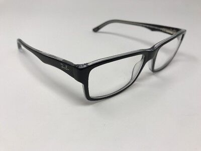 ad055410f8 Ray-Ban 5245 2034 Eyeglasses Optical Frames Glasses Black on Crystal ~ 54mm  T474